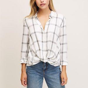 DYNAMITE | Long Sleeve Twisted Shirt